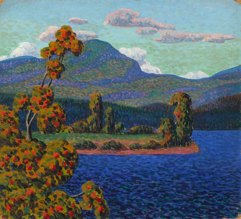 01. Konrad Mägi, Paysage de Norvège au pin