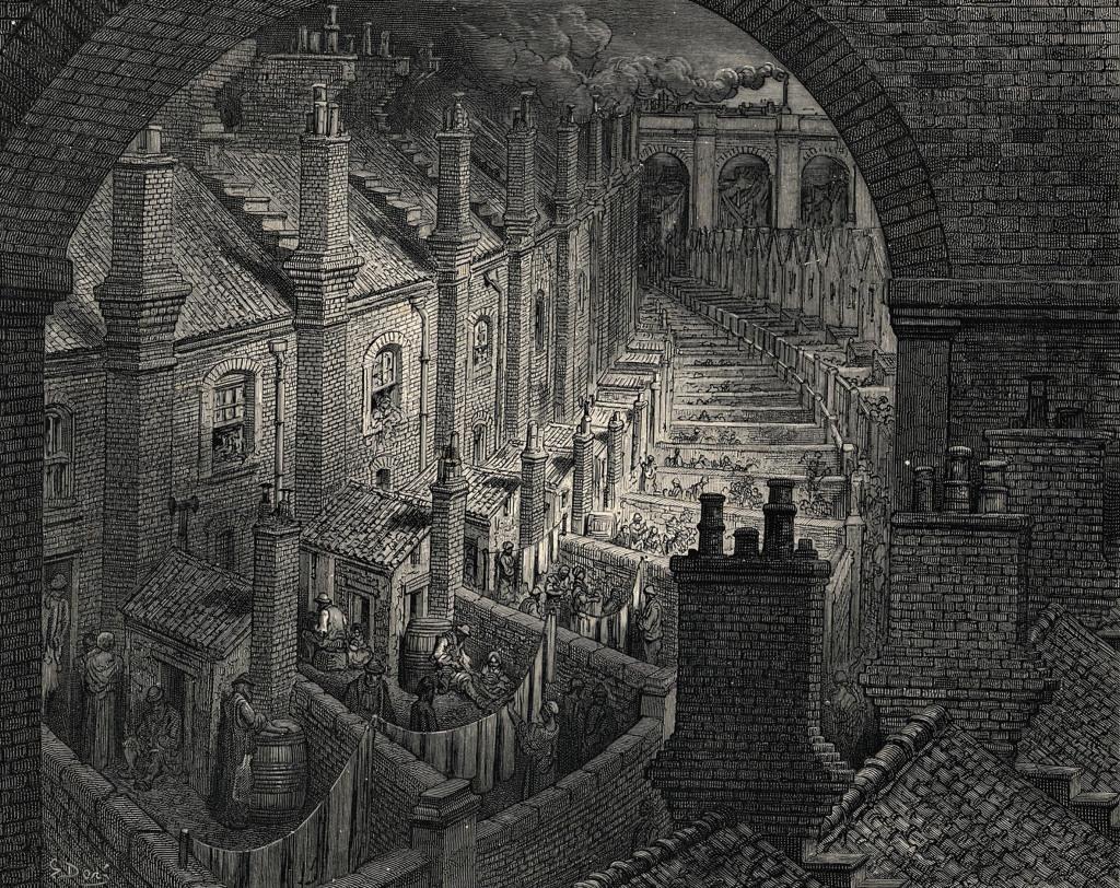 Gustave Doré, Au-dessus de Londres depuis une voie ferrée