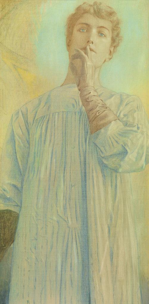 Khnopff, Du silence, 1890