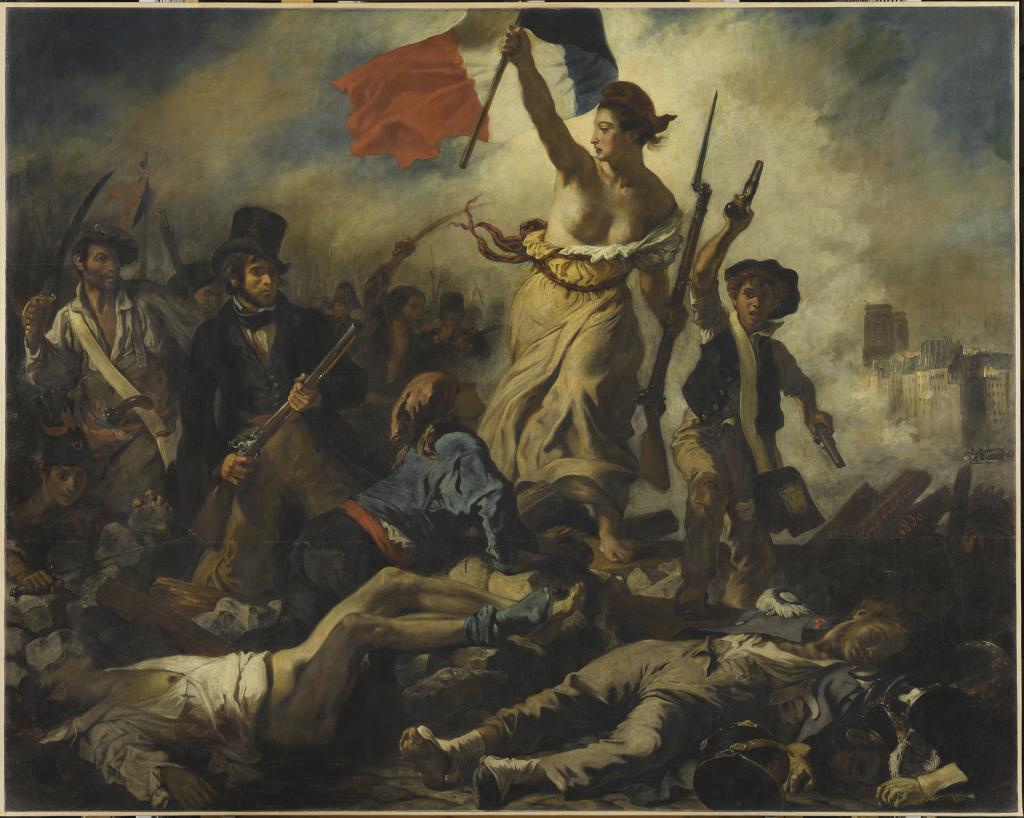 Delacroix Eugène, Le 28 juillet 1830 : la Liberté guidant le peuple, 1830