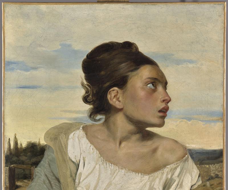 Eugène Delacroix, Jeune orpheline au cimetière, 1824.