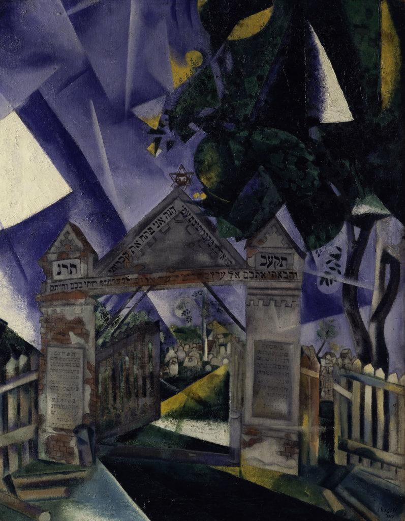 Marc Chagall, Les portes du cimetières, 1917