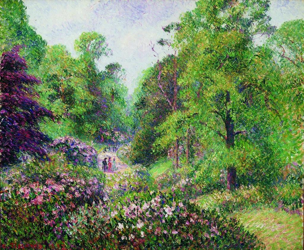 Camille Pissarro, Jardin de Kew, Londres. L'allée des rhododendrons, 1892