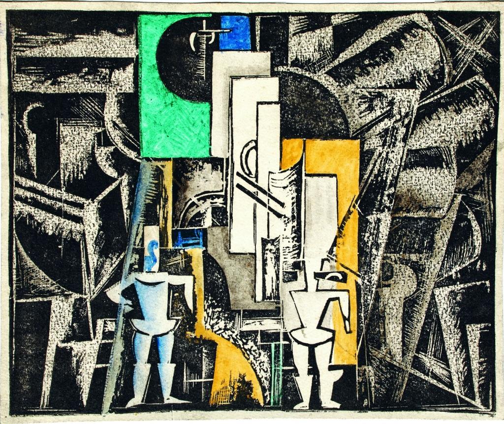 17 Vera Ermolaeva Projet de decor pour l'opera Victoire sur le soleil 1920