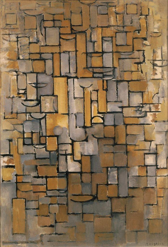 03. Les Hollandais à Paris - Piet Mondriaan, Composition XIV (Compositie XIV), 1913. Huile sur toile. Collection Van Abbemuseum, Eindhoven, Pays-Bas