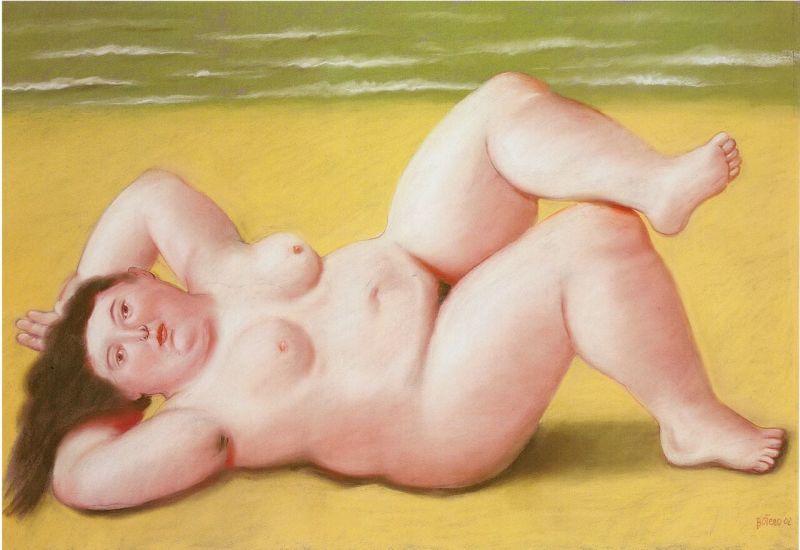 Fernando Botero, Femme à la plage - Botero, dialogue avec Picasso à l'Hôtel de Caumont