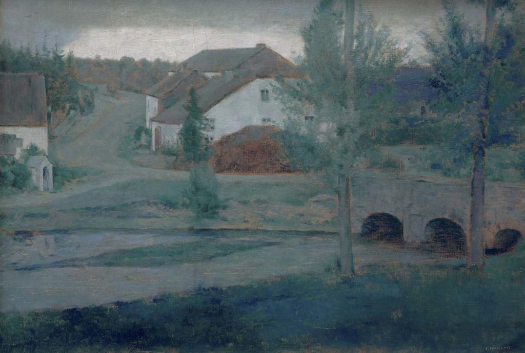Knopff, A Fosset, l'entrée du village, 1885