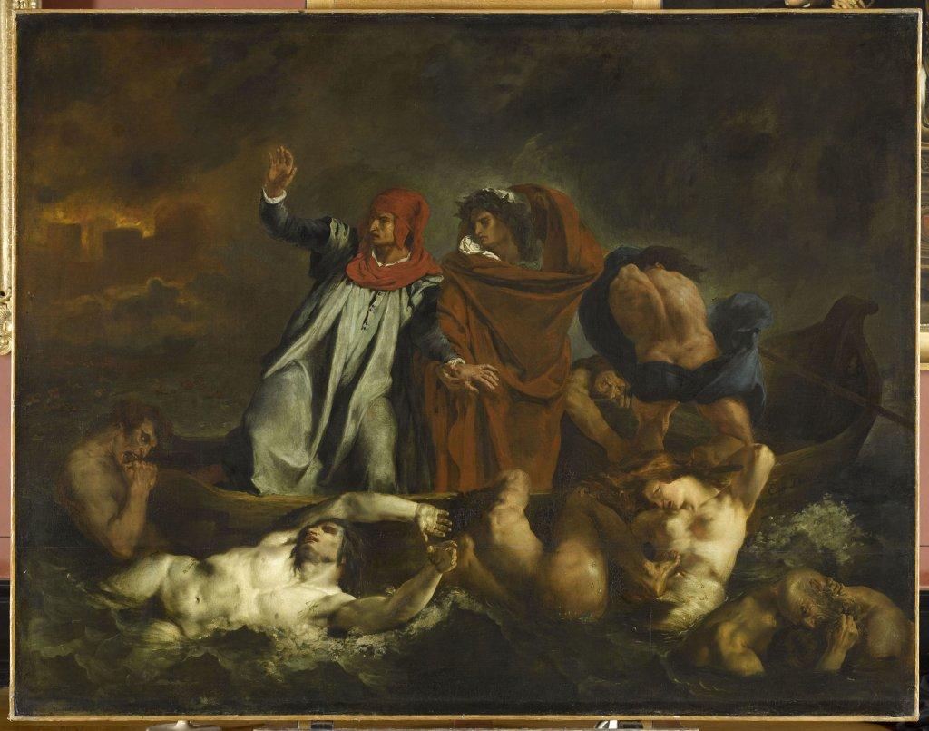 Delacroix Eugène, Dante et Virgile aux enfers dit aussi La barque de Dante, 1822