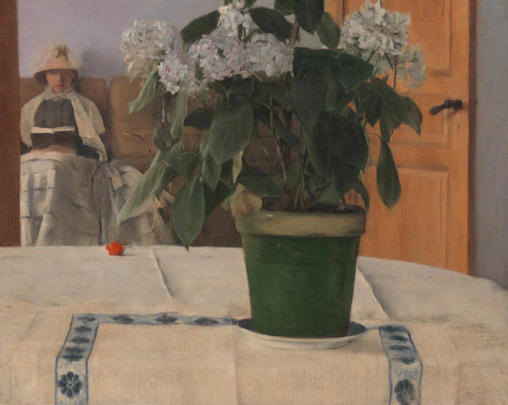 Khopff, Un hortensia, 1880