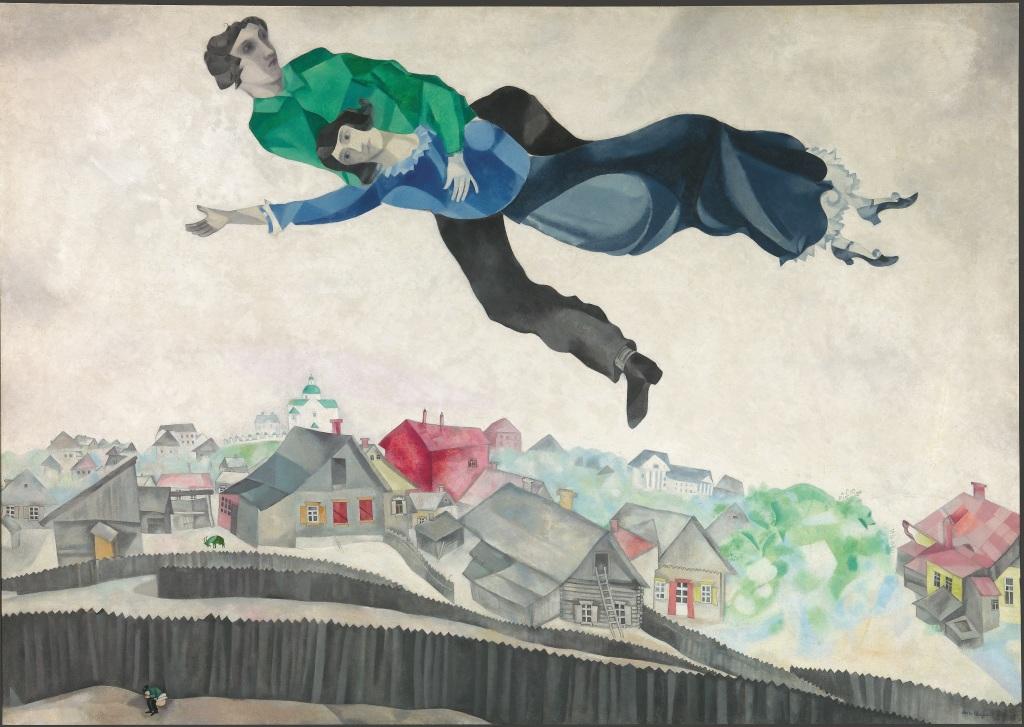 3 Marc Chagall Au dessus de la ville 1914 1918