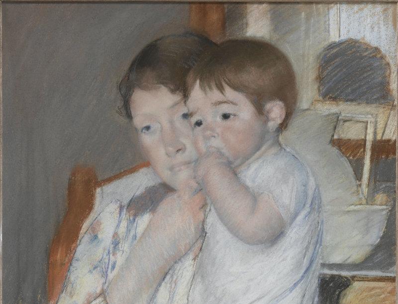 Cassatt Mary (1844-1926). Paris, musée d'Orsay, conservé au musée du Louvre. RF31843-recto.