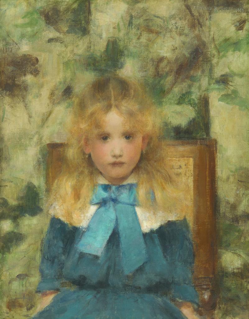 Khnopff, Portrait de Mademoiselle Van der Hecht
