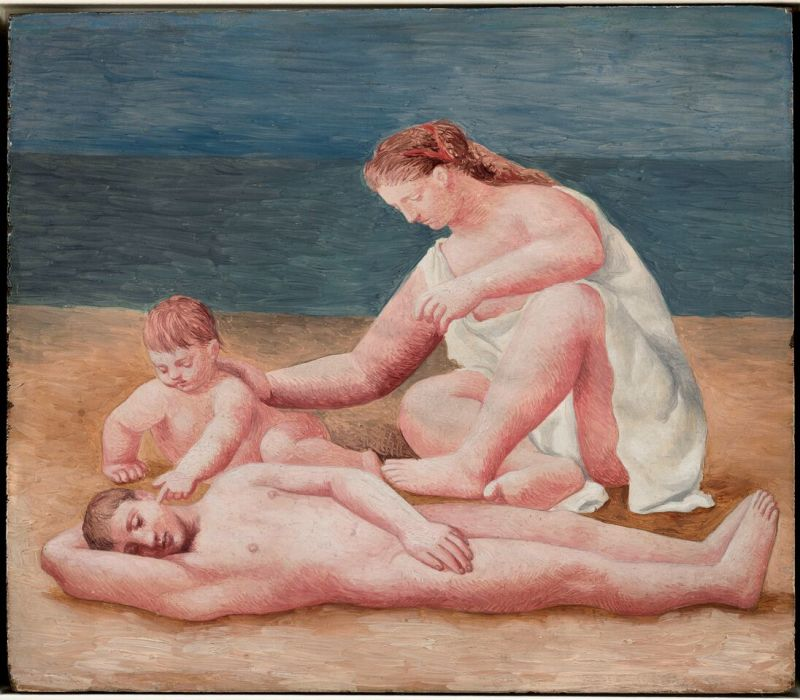 Pablo Picasso, Famille au bord de la mer - Botero, dialogue avec Picasso à l'Hôtel de Caumont