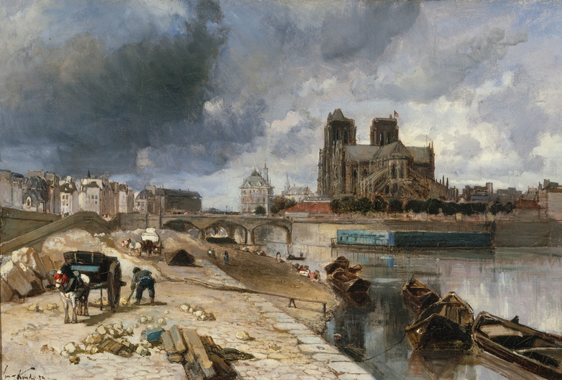04. Les Hollandais à Paris - Jongkind, Notre-Dame de Paris vue du quai de la Tournelle