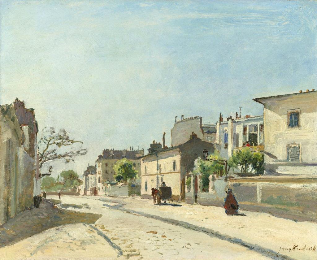 01. Les Hollandais à Paris - Johan Barthold Jongkind, Rue Notre-Dame, Paris, 1866, huile sur toile, Amsterdam, Rijksmuseum