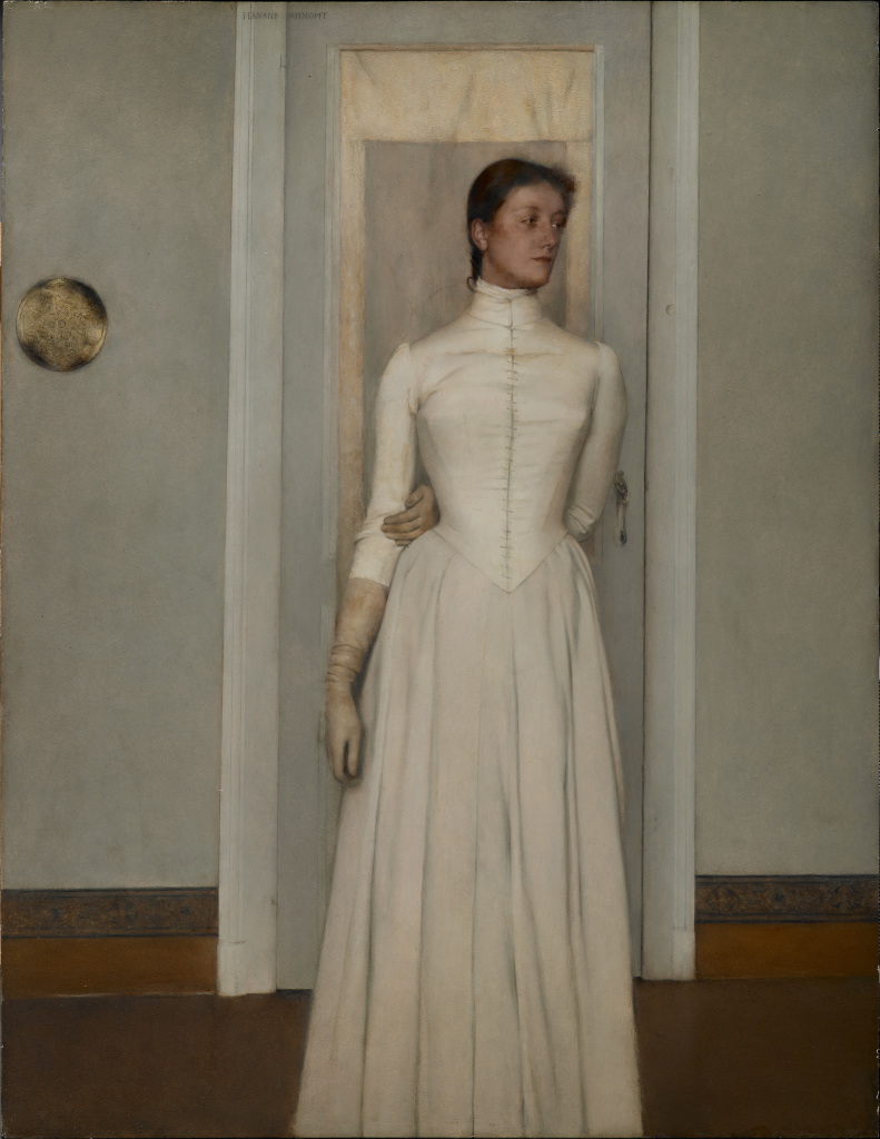 Knopff, portrait de Marguerite Khnopff