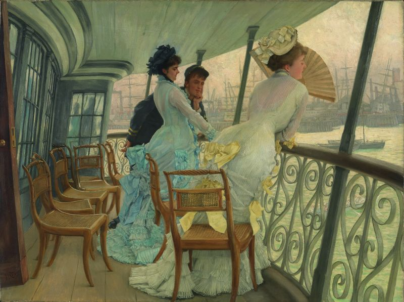 James Tissot, La Galerie du «HMS Calcutta» (Portsmouth), vers 1876