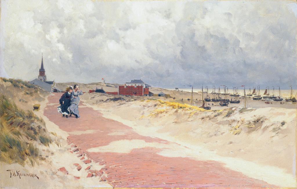 05. Les Hollandais à Paris - View of Scheveningen, by Frederik Hendrik Kaemmerer