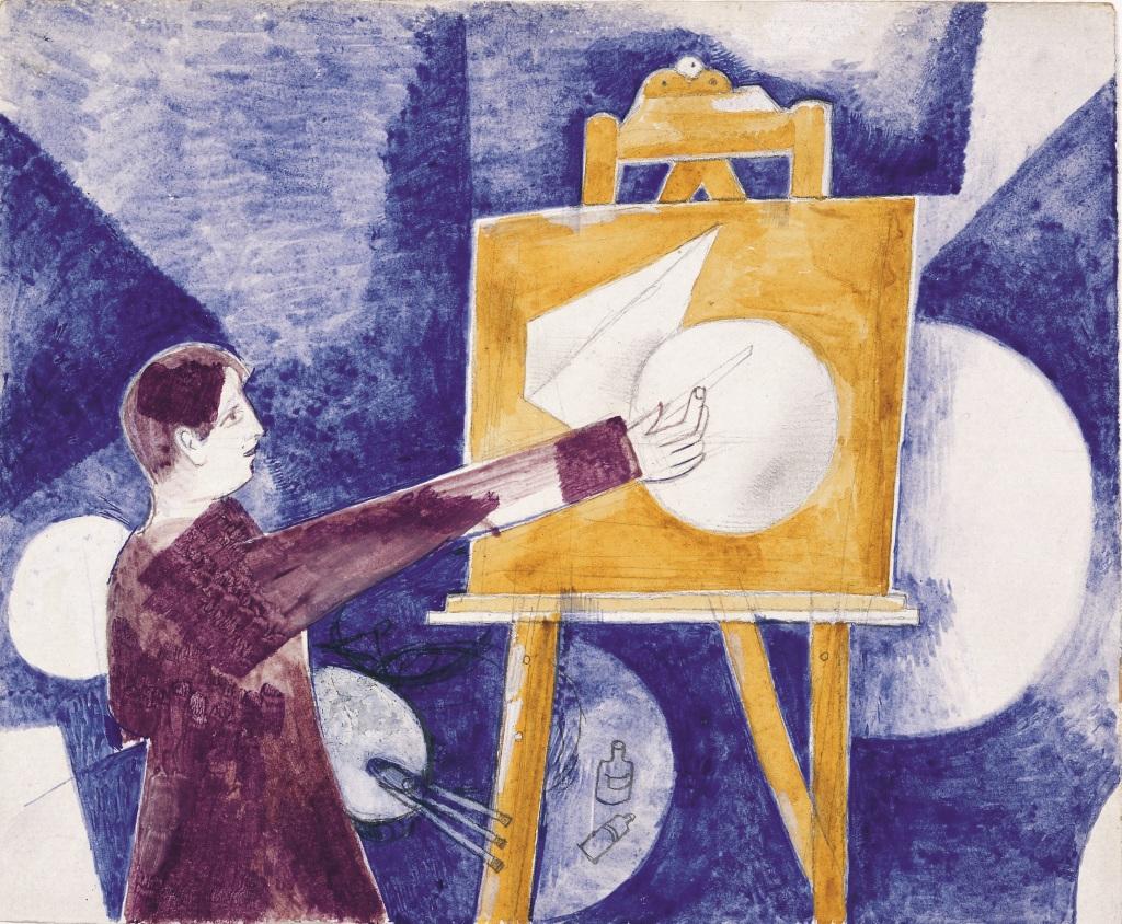 8. Marc Chagall, Autoportrait au chevalet 1918