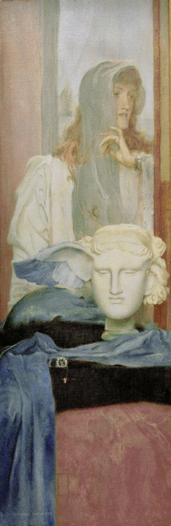 Khnopff, Une aile bleue, 1894