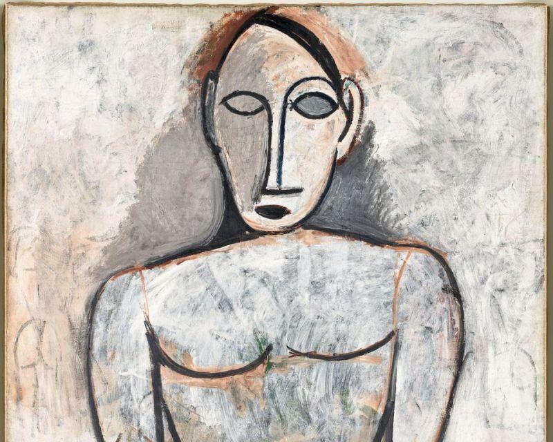 Pablo Picasso, Femme aux mains jointes (étude pour Les Demoiselles d'Avignon), printemps 1907