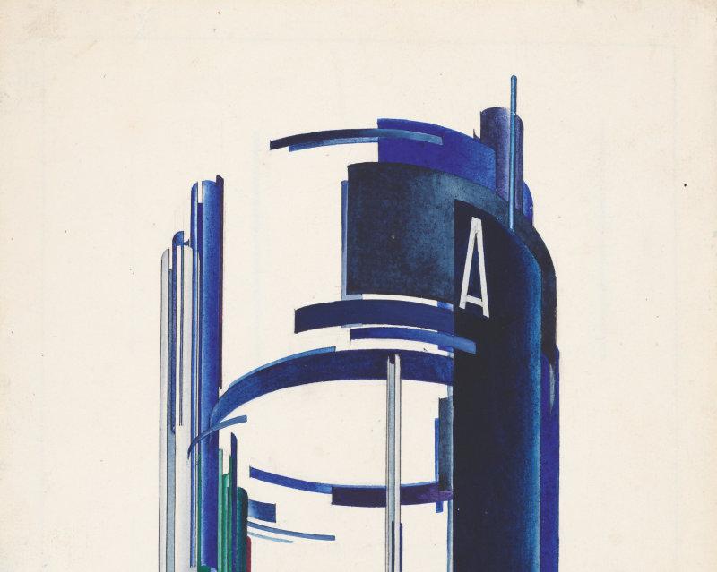 Iakov Guéorgiévitch Tchernikhov Composition avec des cercles et des sections de cylindres, Architecture de l'avant garde russe, Beaux-Arts