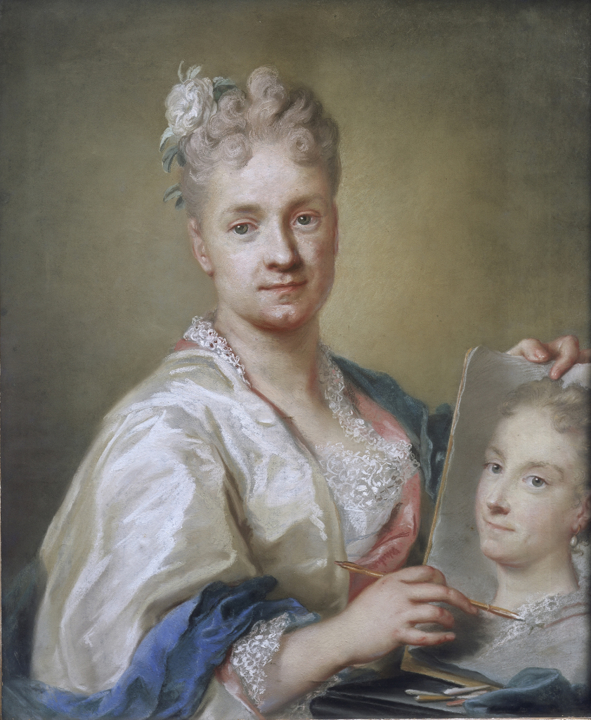 Rosalba CARRIERA, Autoportrait, 1715, pastel sur papier, Florence, Galleria degli Uffizi