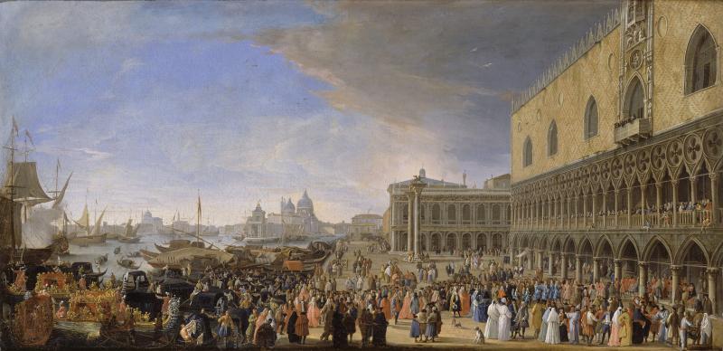 Luca CARLEVARIJS, L'Entrée du Comte de Gergy, ambassadeur de France, au Palais des Doges, 1726