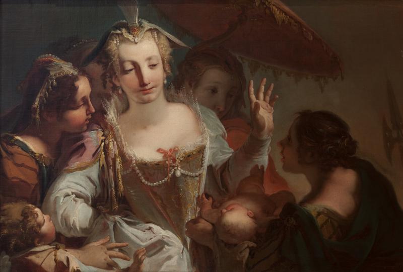 Giambattista CROSATO, Il Ritrovamento di Mosè, 1733