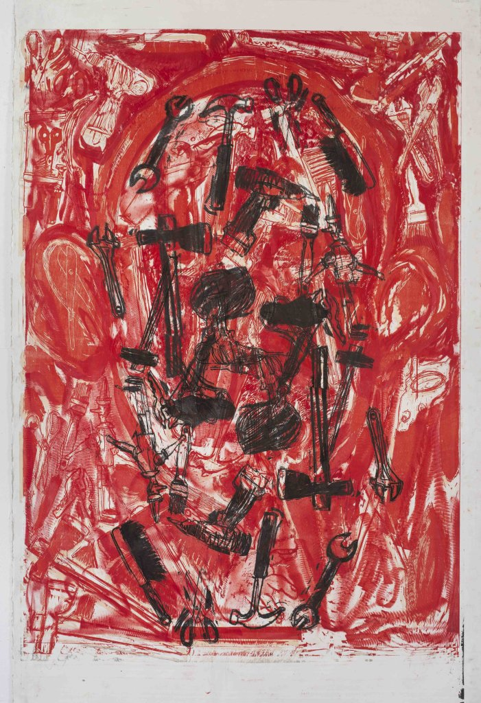 Jim Dine, Tools in a puzzled vessel n.5, Galerie Templon