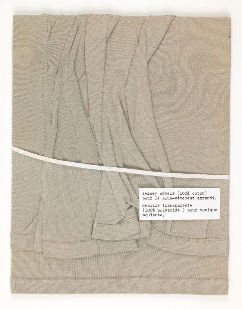 Martin Margiela, Echantillon drapé 1990