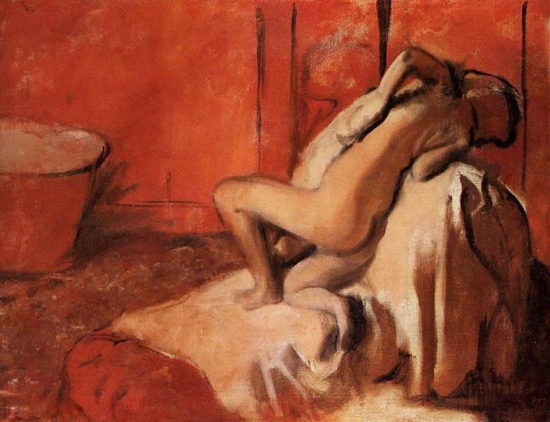 Edgar Degas, Après le bain (Femme s'essuyant), 1896