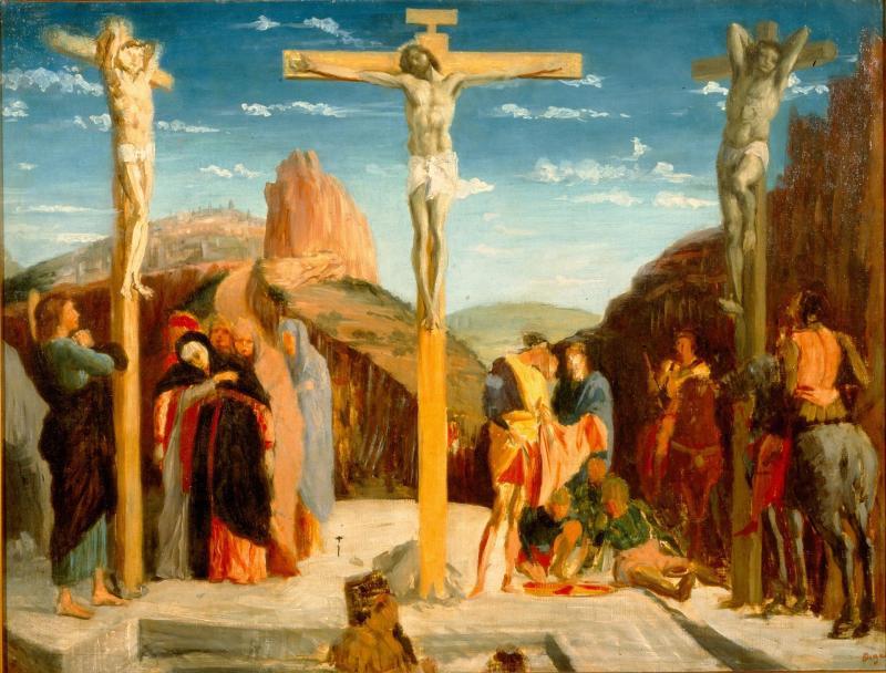Edgar Degas, La Crucifixion d'après Mantegna, 1861