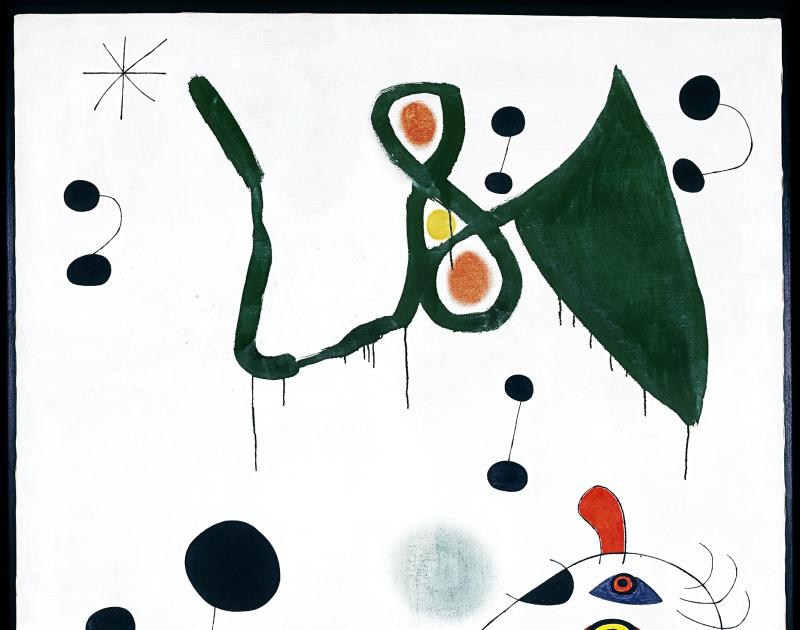 Femme-et-oiseau-dans-la-nuit - (c) Successió Miró Adagp, Paris 2018Photo Successió Miró Archive