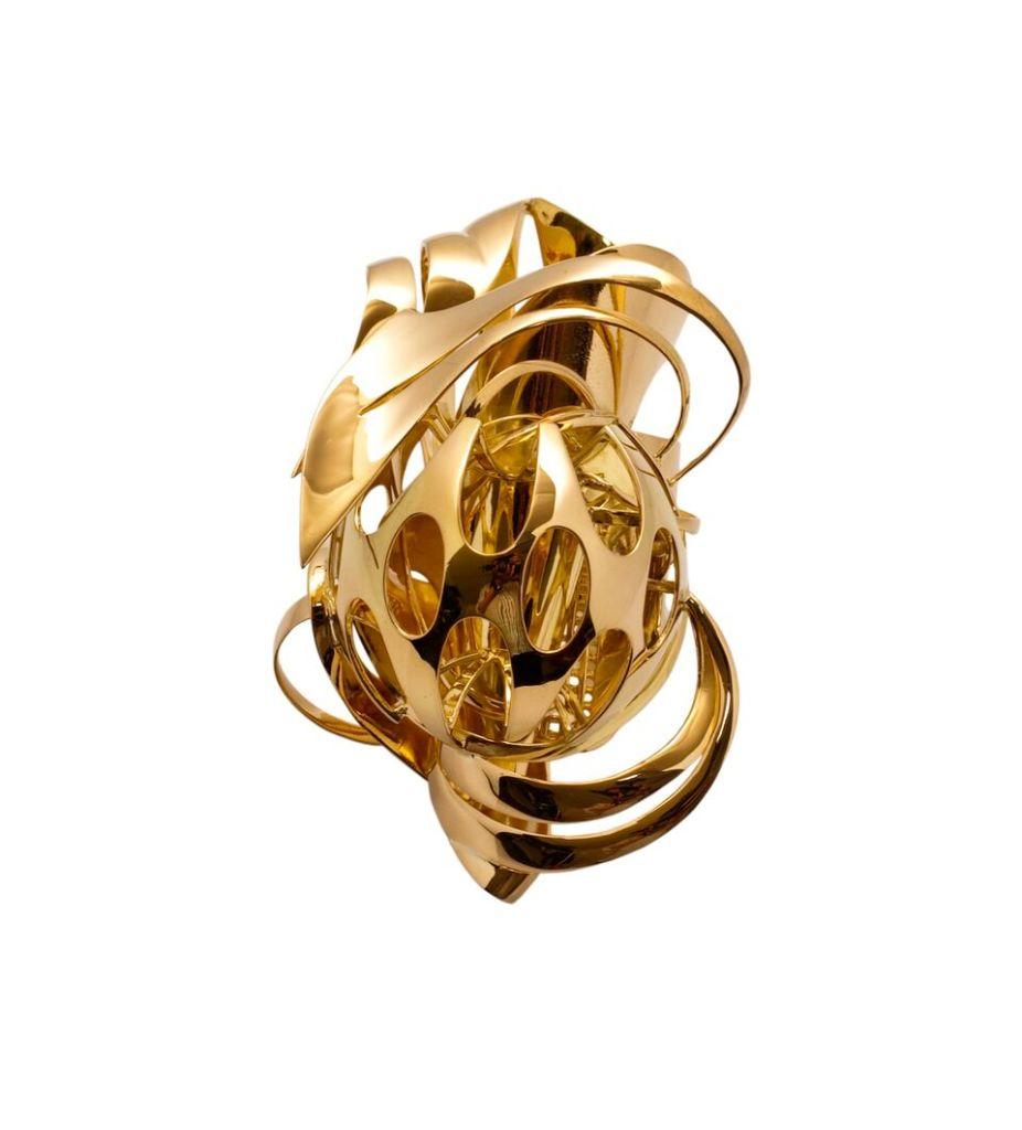 Frank Stella, Bague, 2010, or, édition de 5 par The Gallery Mourmans, Collection Diane Venet