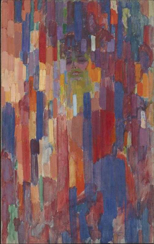 Frantisek Kupka, Madame Kupka dans les verticales, 1910