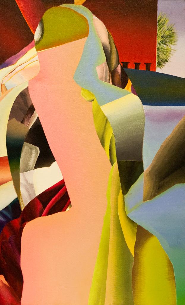 Genevieve Hugon, La fuite en Egypte, 1987, Galerie Minsky