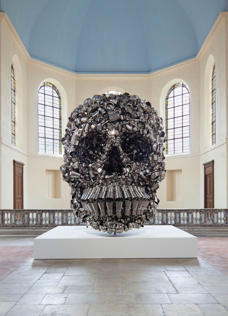 Subodh Gupta,Very Hungry God, 2006 stainless steel, Pinault Collection