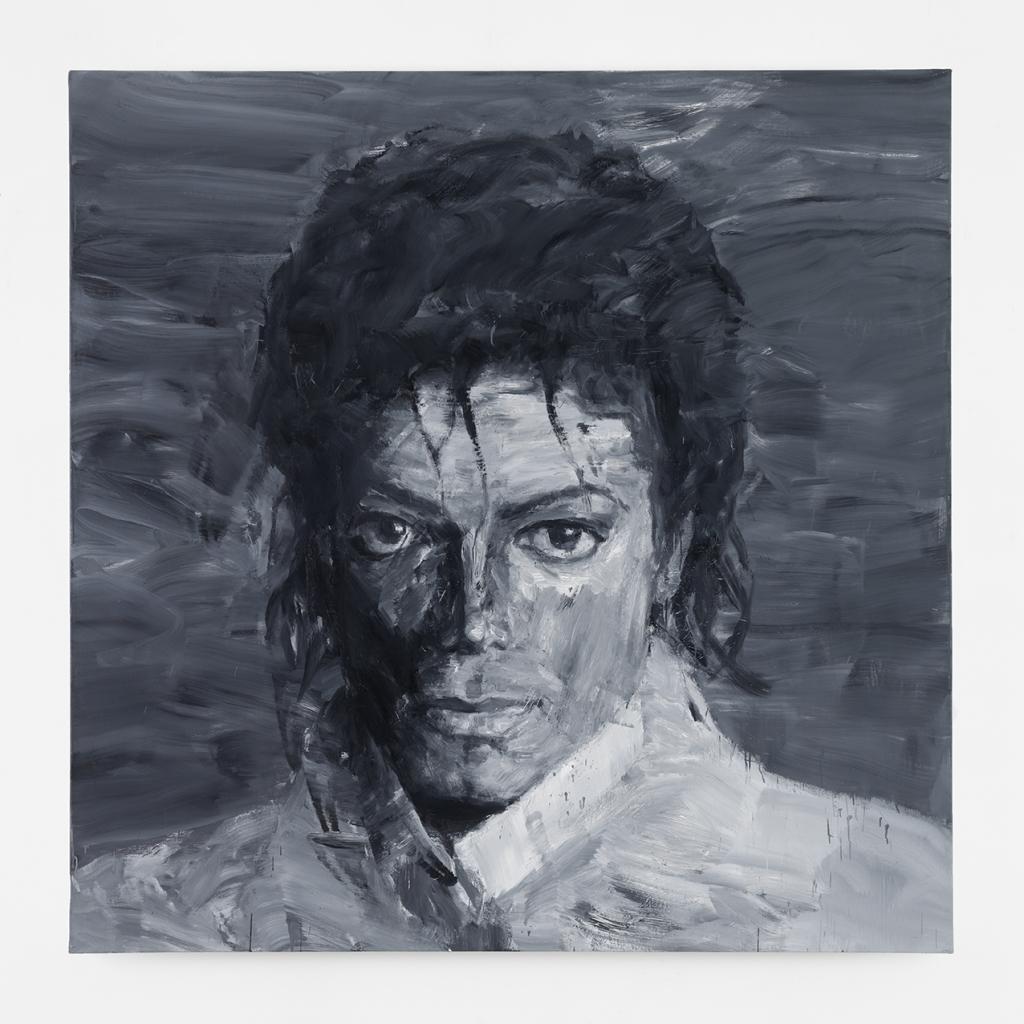 Yan Pei-Ming, In memory of Michael Jackson, 2017