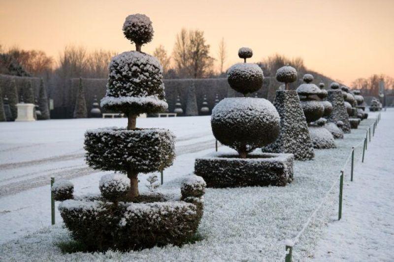 Jardins du château en hiver