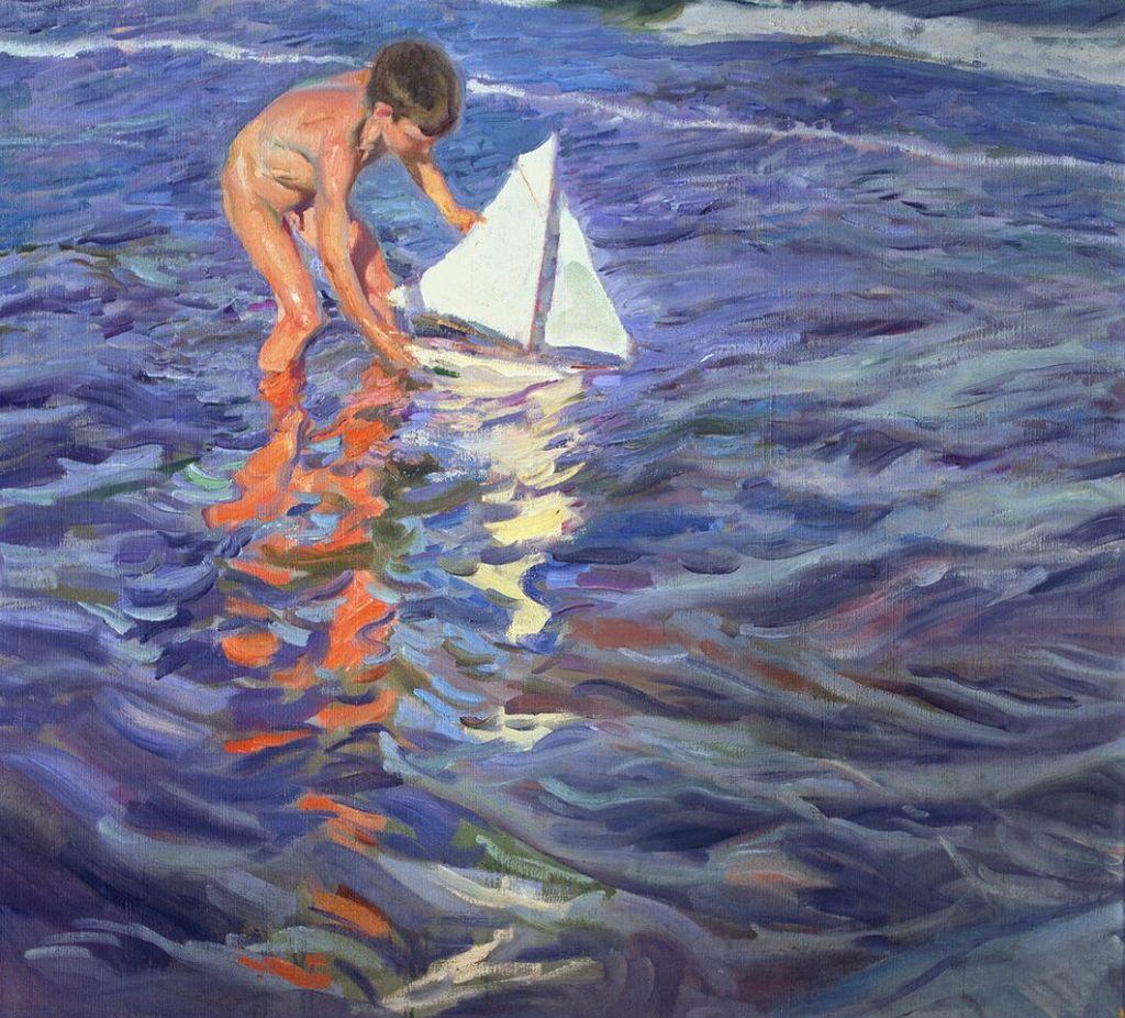 Joaquin Sorolla, L'enfant au bateau, 1909 © Museo Sorolla, Madrid, Spain