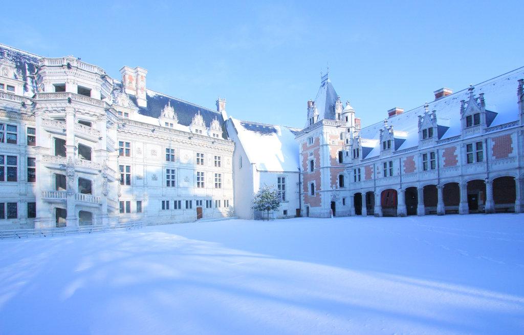 Le château sous la neige - Noël au Château Royal de Blois