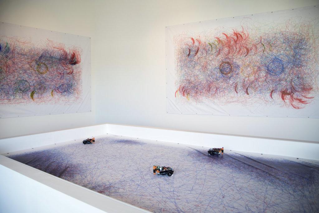 Leonel Moura, Robot Art, 2017 - Exposition Artistes & Robots au Grand Palais