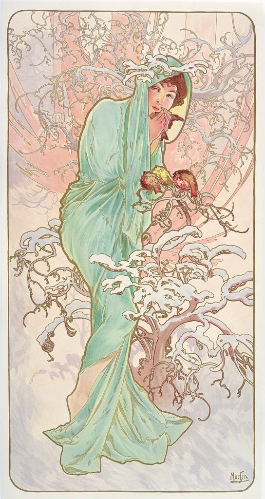 Alphonse Mucha, Les Saisons : L'Hiver, 1896