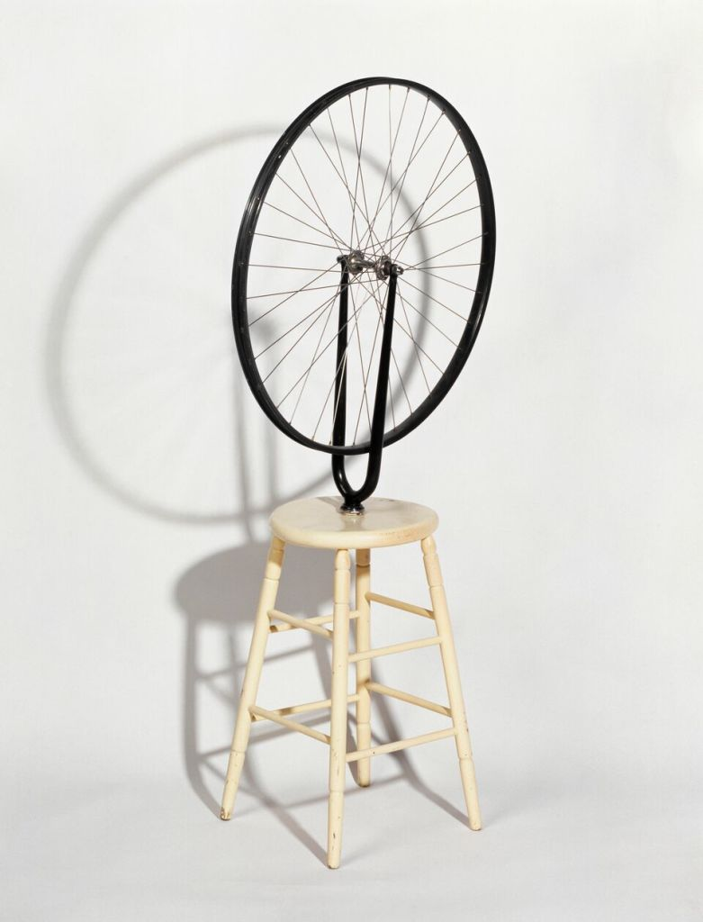Marcel Duchamp, Roue de bicyclette - © Succession Marcel Duchamp ADAGP Paris, centre Pompidou