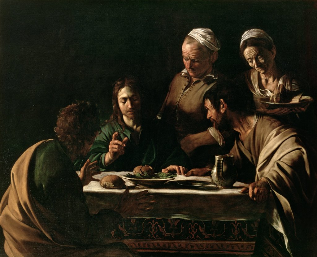 Supper at Emmaus, 1606 (oil on canvas)
