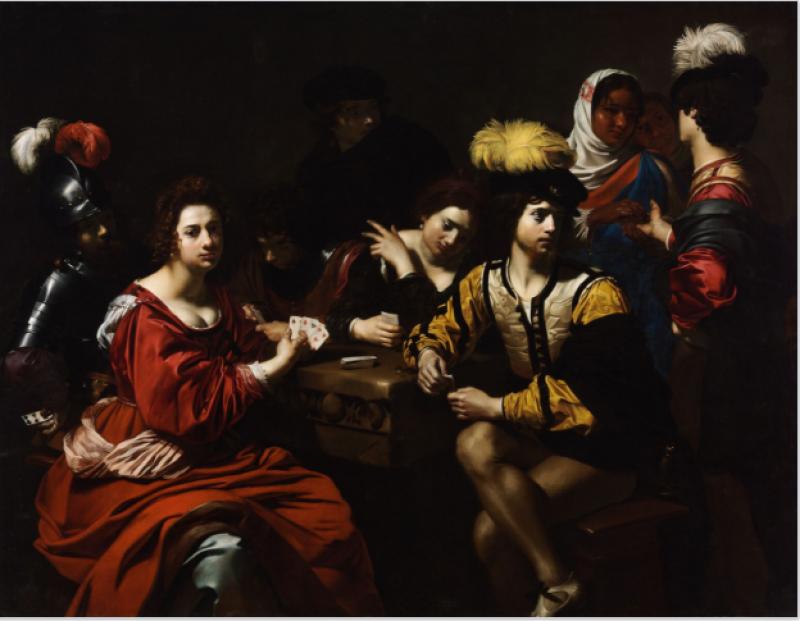 Nicolas Régnier, Joueurs de cartes et diseuse de bonne aventure, Musée d'Art de Nantes