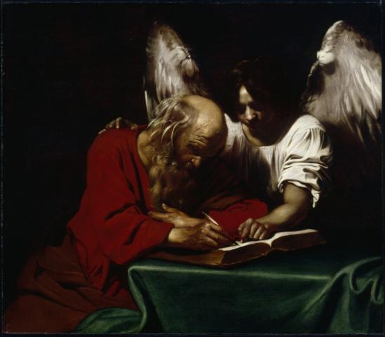 Nicolas Régnier, Saint Matthieu et l'Ange, Musée d'Art de Nantes