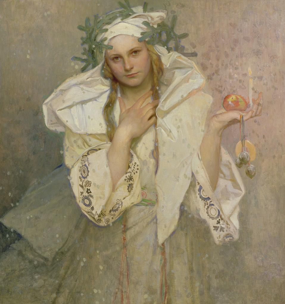 Alphonse Mucha, Noël en Amérique, 1919