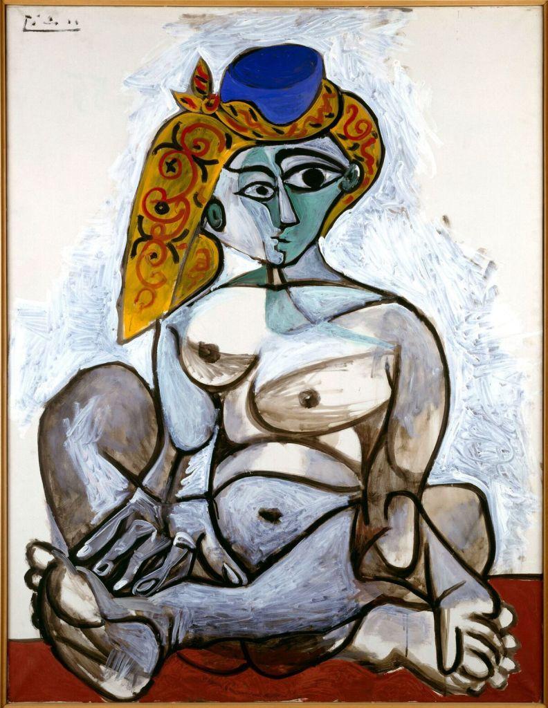 Pablo Picasso, Femme nue au bonnet turc, 1955